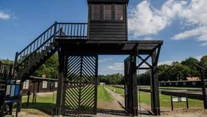 Ein Blick auf das ehemalige Konzentrationslager Stutthof in Sztutowo im Norden Polens.
