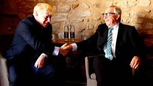 Großbritanniens Premier Boris Johnson und EU-Kommissionspräsident Jean-Claude Juncker