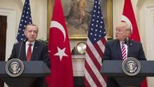 Recep Tayyip Erdogan (l.), Präsident der Türkei, und Donald Trump, Präsident der USA