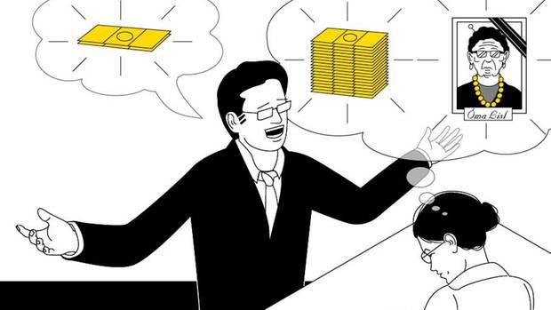 VOE STERN 43/2019 Der Goldpreis ist in den letzten 5 Jahren um 50 Prozent gestiegen. Hier die Illustration für stern 44/2019 von Jörg Dommel zu diesem Thema
