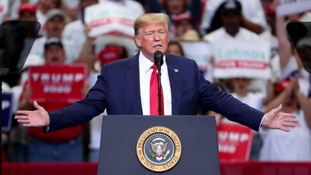 US-Präsident Donald Trump während einer Wahlkampfveranstaltung in Dallas (Texas)