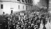 Tumulte vor der New Yorker Börse