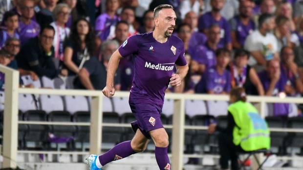 Franck Ribéry für AC Florenz in Aktion