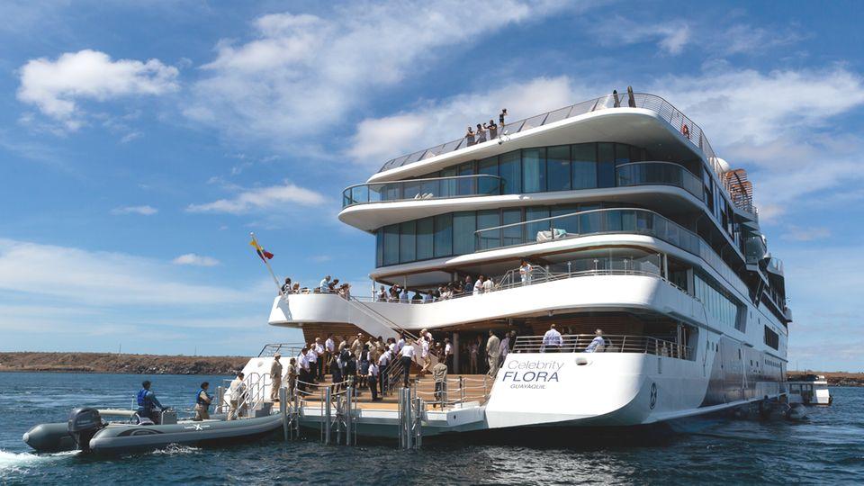 """Die """"Celebrity Flora"""" von Celebrity Cruises wurde für die Erkundung der Galapagos-Inseln konzipiert"""