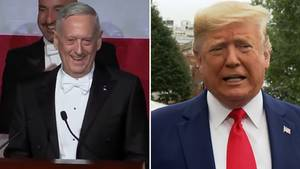 Collage: James Mattis, Donald Trump