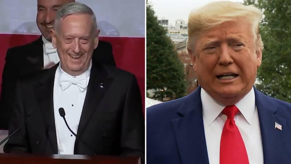 Collage: James Mattis, Donald Trump