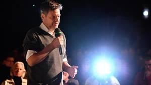 Grünen-Chef Robert Habeck bei einer Wahlkampfveranstaltung