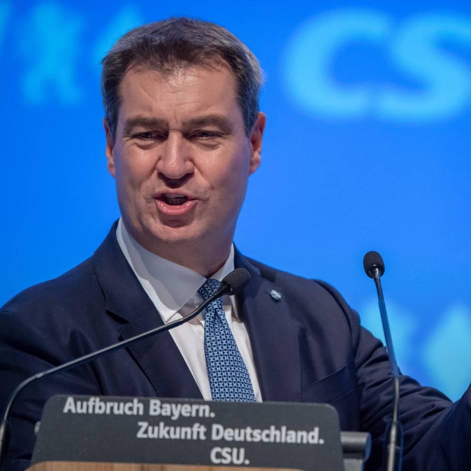 News von heute: Söder mit 91,3 Prozent als CSU-Chef wiedergewählt