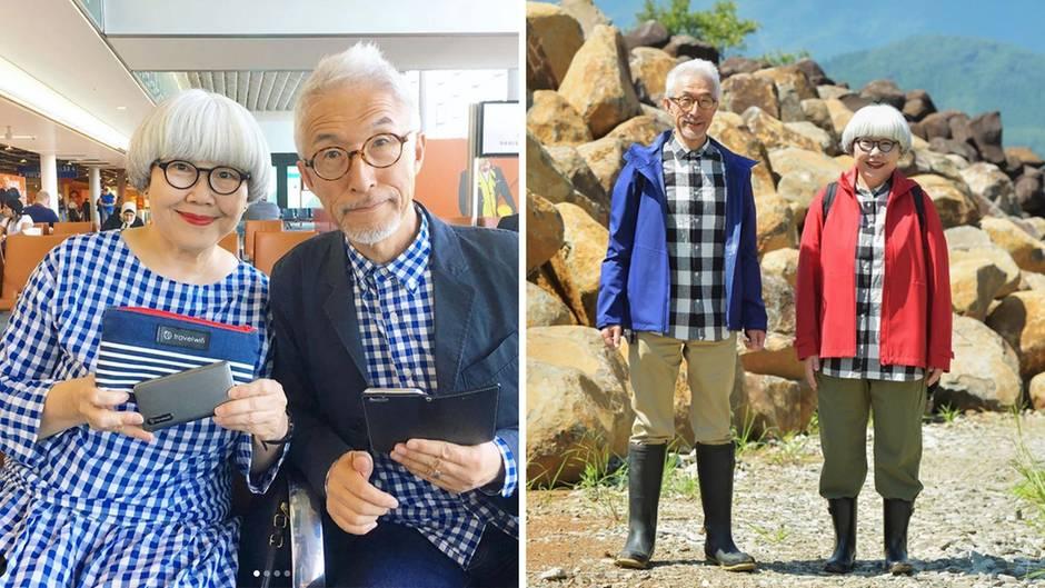 Süß oder spießig?: Partnerlook extrem: Japanisches Ehepaar zieht jeden Tag aufeinander abgestimmte Outfits an