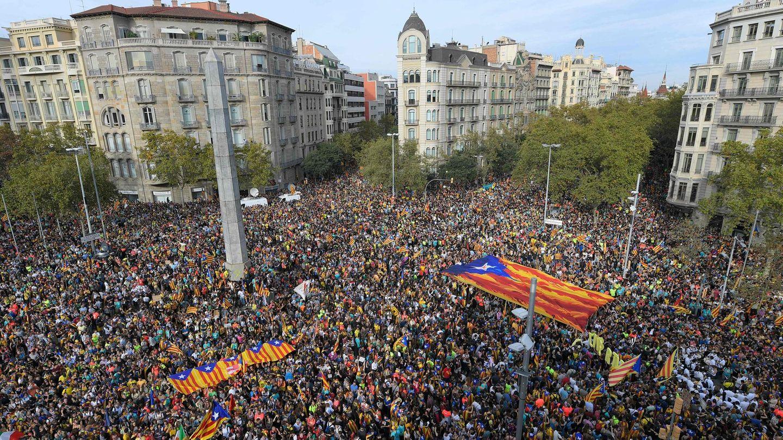 Demonstranten in Barcelona