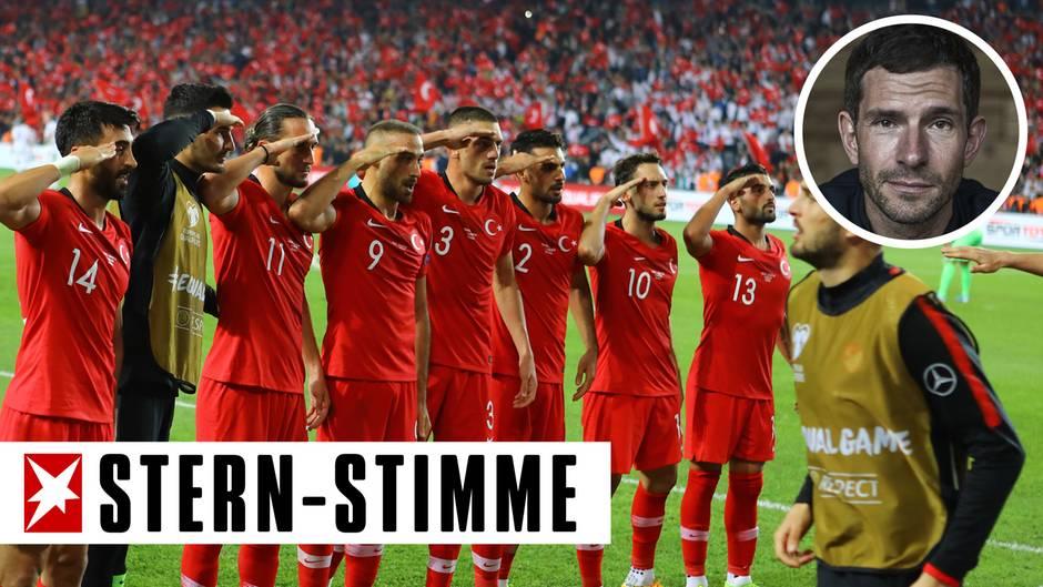 Der Hurra-Patriotismus im Stadion schwappt nach Deutschland.
