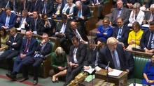 Großbritanniens Premier Boris Johnson spricht im Parlament