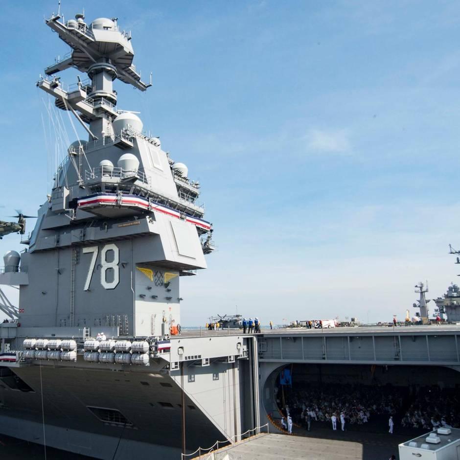 """Marine: """"USS Gerald Ford"""" – mächtigster Flugzeugträger der Welt kann Waffen nicht an Deck transportieren"""