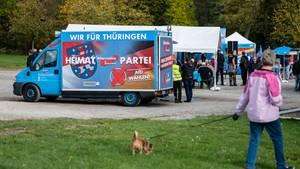 Eine AfD-Wahlveranstaltung in Thüringen