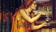 VonGiulia Tofana existiert kein Portrait. Das Gemälde von Evelyn De Morgan zeigt eine Frau der Renaissance mit einem Liebestrank.