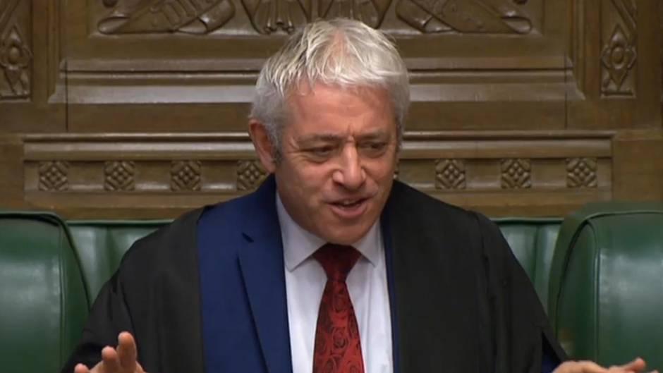 Brexit-Deal: Parlamentspräsident John Bercow ließ eine Abstimmungnicht zu