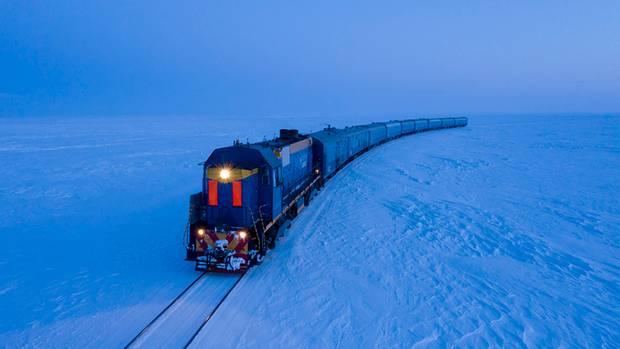 Pendlerzug des Gazprom-Konzerns