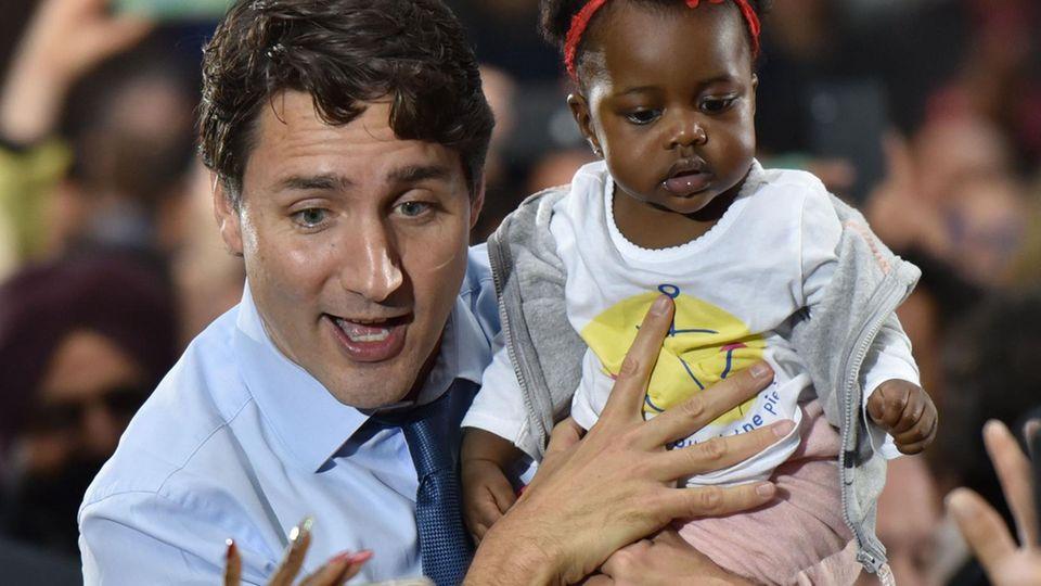 Kanada: Justin Trudeau beim Wahlkampf