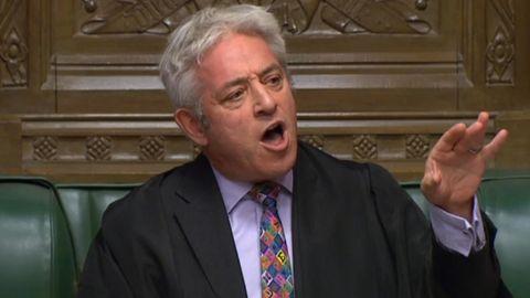 Der britische Parlamentspräsident John Bercow hat eine erneute Abstimmung über den Brexit-Vertrag abgelehnt