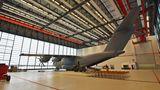 A400M im Hangar von hinten
