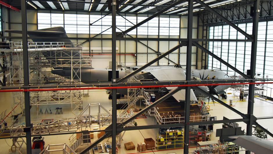 Wartungshalle für den Airbus A400M