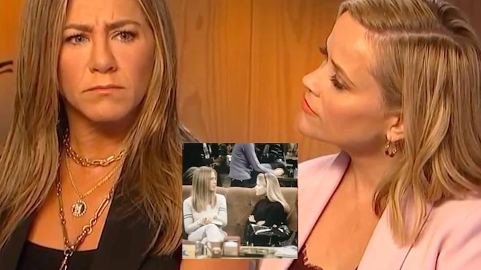 Jennifer Aniston und Reese Witherspoon spielen eine Szene von vor 20 Jahren nach