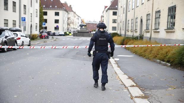 Die Polizei sperrte die Gegend in Oslo ab