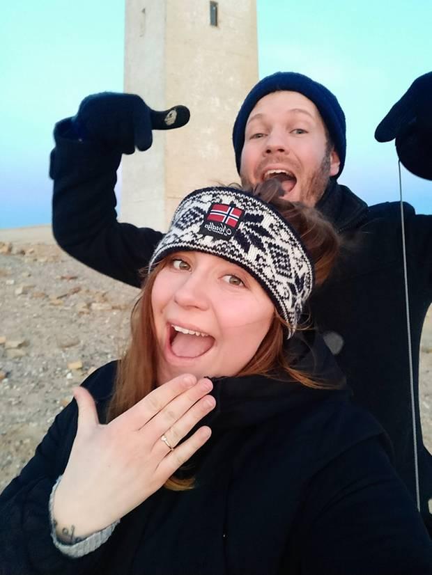 Anna Küthe erhielt von ihrem Verlobten Thomas am Rubjerg Knude Fyr einen Heiratsantrag