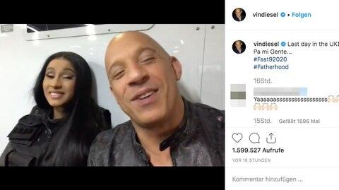 Ein Ausschnitt aus dem Instagram-Video von Vin Diesel