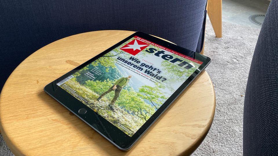 Digitale Magazine wie der stern kommen auf dem großen Display des iPad gut zur Geltung