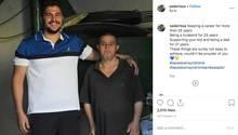 Sader Issa und sein Vater mit Down-Syndrom