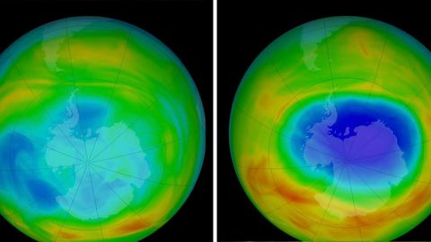 Das Ozonloch über der Antarktis hat sich in den letzten Jahren verkleinert