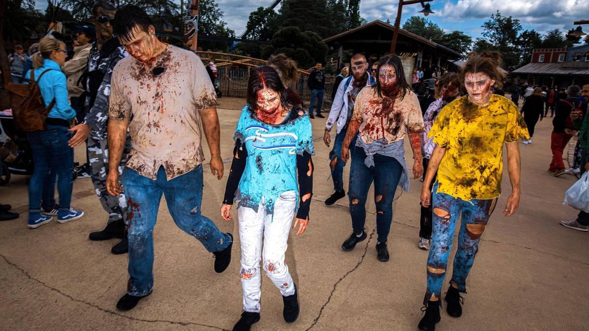 Angst ist ihr Hobby – ein Tag unter Zombies im Heide-Park in Soltau - STERN.de