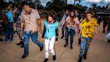 Eine Gruppe zombifizierter Horrorfans in Soltau