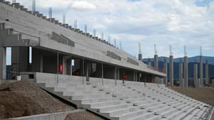 Noch im Bau: Das neue Stadion von Fußball-Bundesligist SC Freiburg