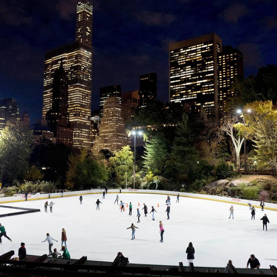 New York: Trumps Name von berühmten Eislaufbahnen im Central Park entfernt