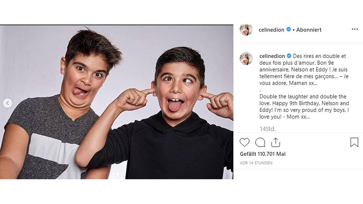 Leute von heute: Kaum wiederzuerkennen: Céline Dion zeigt Fotos ihrer Zwillingssöhne