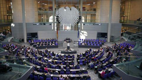 Der Plenarsaal des Deutschen Bundestages