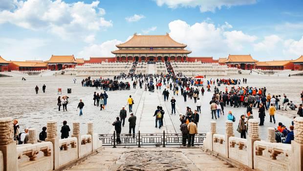 Touristenattraktion in Peking: Das Eingangstor zu Verbotenen Stadt