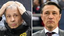 Lucien Favre und Niko Kovacstehen unter Dauerkritik