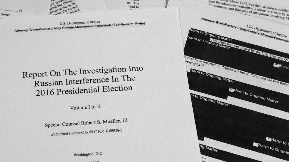 Der bearbeitete Mueller-Bericht zur Russland-Affäre