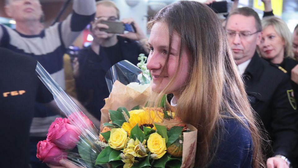 Maria Butina bei ihrer Ankunft in Moskau