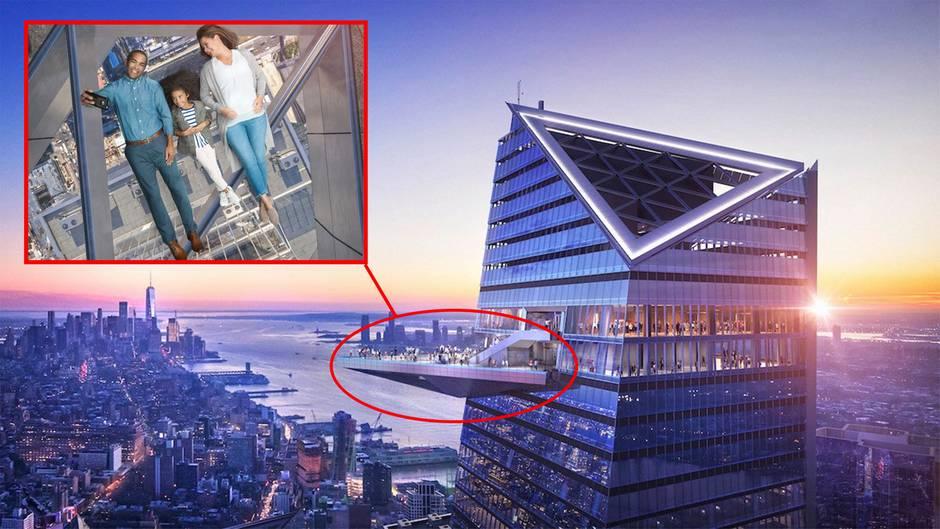"""""""Edge"""" Hudson Yards Aussichtsplattform: New York hat einen neuen Nervenkitzel"""