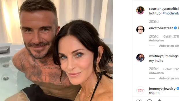 Courteney Cox und David Beckham