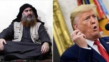 Ein undatiertes Foto zeigt den IS-Chef Abu Bakr al-Bagdadi
