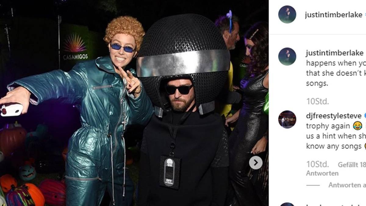 Leute von heute: Mit diesem Halloween-Kostüm haben Justin Timberlake und Jessica Biel alle überrascht