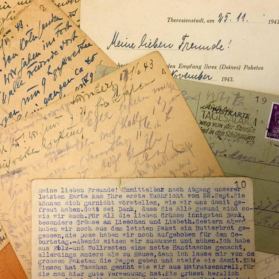 """Konzentrationslager: """"Es geht uns gut"""" – Postkarten aus dem KZ erzählen von den Sorgen einer Mutter"""