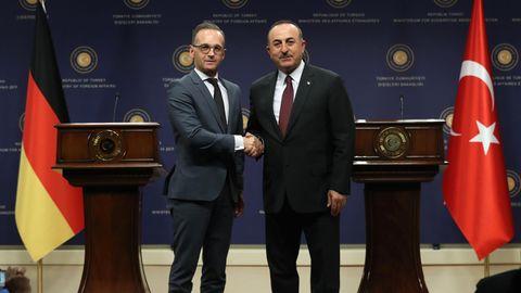 Bundesaußenminister Heiko Maas und sein türkischer Amtskollege Mevlut Cavusoglu