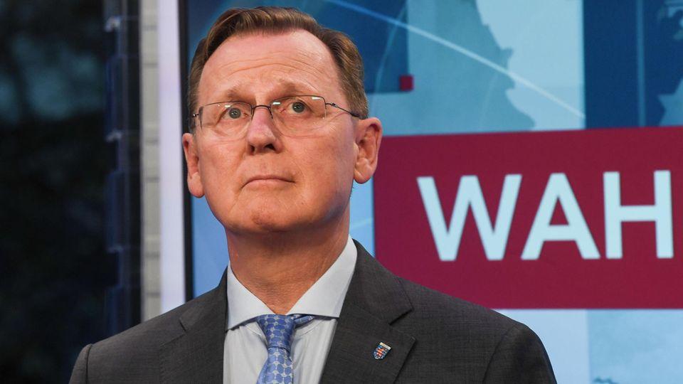 Die Linkspartei mit Ministerpräsident Bodo Ramelow hat in Thüringen ein Rekordergebnis erzielt