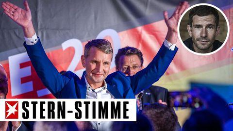 AfD-Spitzenkandidat Björn Höcke nach der Landtagswahl in Thüringen